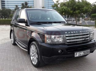 RANGE ROVER 2008, GCC, SPORT SUPERCHARGED, AGENCY MAINTAINED, SUNROOF, LEATHER SEATS
