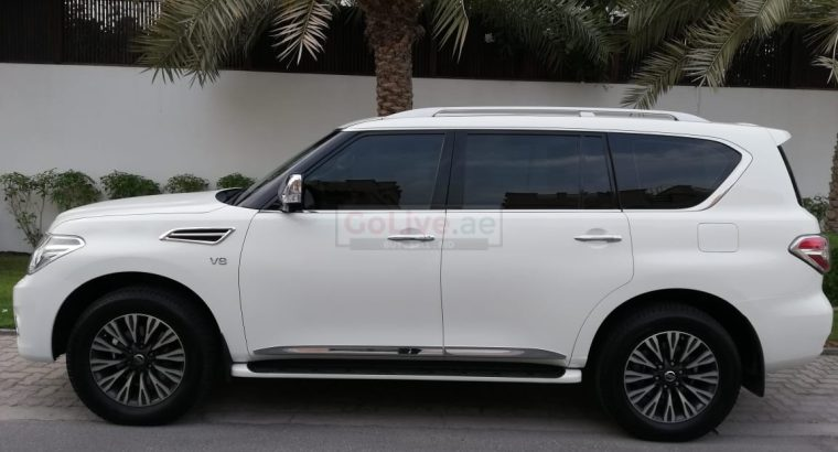 NISSAN PATROL PLATINUM 2016,NO 1 OPTION,SUNROOF,LEATHER SEATS,ACCIDENT FREE,SINGLE OWNER,FSH