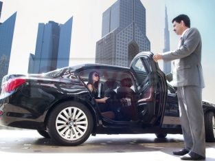 Executive meeting – big new car available with driver