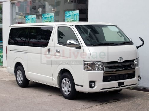 14 Seat Toyota Hiroof bus with driver for monthly basis (Van on Rent)