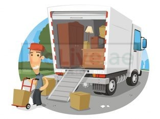 VAN WITH MAN (100) FASTMOVERS PACKERS