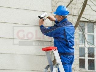 CCTV camera satellite dish installation