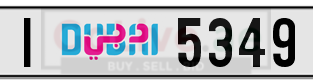 Dubai Plate Number I 5349 for sale