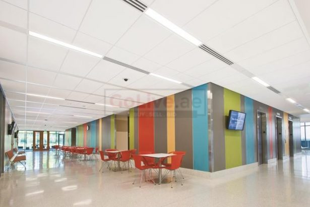 Gypsum ceiling glass aluminium partition