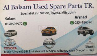 AL BALSAM USED SPARE PARTS TR. (Sharjah Used Parts Market)