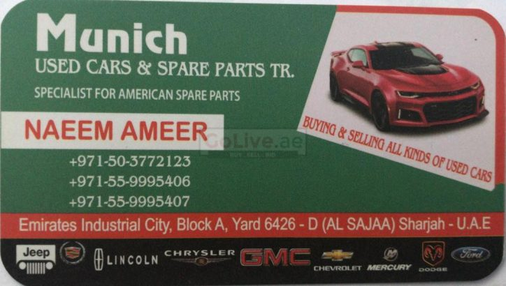 Munich Used cars & Spare Parts TR LLC (Sharjah Used Parts Market)