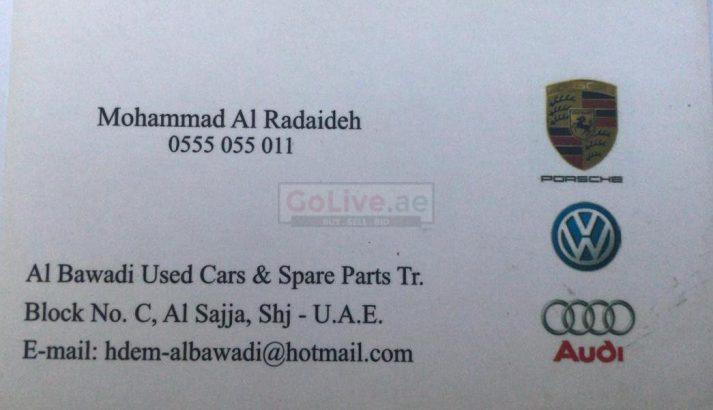 Al Bawadi Used Cars & Spare Parts TR LLC (Sharjah Used Parts Market)