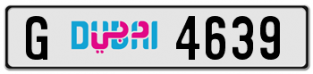 4-Digit  dubai number plate