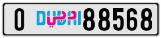 88568 O DUBAI PLATE