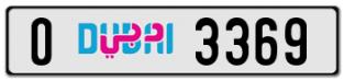 VVIP number O 3369