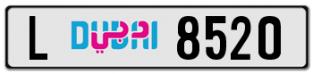 L 8520 -DUBAI PLATE