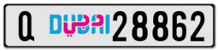 Q28862 DUBAI PLATE