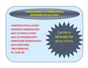 Windows/Mac OS Computer Formatting and Software Installation