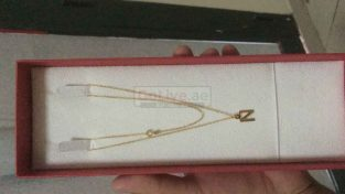 Gold neckless pendant letter N from kalyan