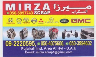 MIRZA SCRAP Used Parts TR