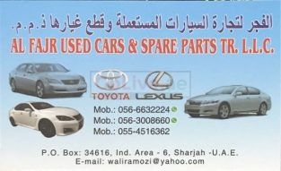 AL FAJR USED CARS SPARE PARTS