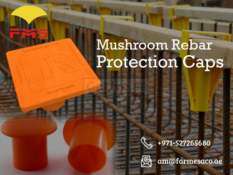 Mushroom Rebar Protection Caps from UAE | pvc spacers uae