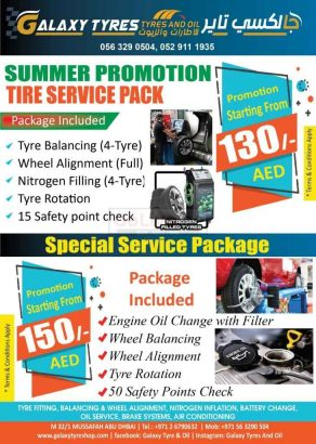 Special Car Service Package Starting from 150/- Dhs