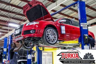 Oil Change Service New Year Offer for Range Rover Land Rover & German Cars just 300 AED at Turkia Auto Workshop
