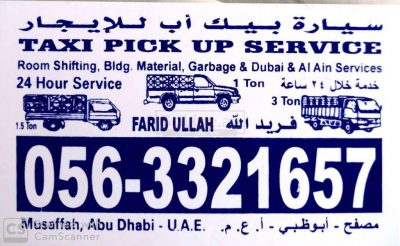 Taxi Pickup for rent in Abu Dhabi