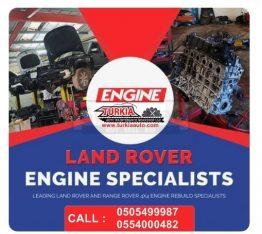 Land Rover Jaguar Range Rover Vogue Sport Engine Repair just 1500 AED at Turkia Auto Workshop