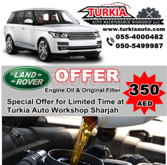 Land Rover Range Rover Engine Oil & Filter Change Service Offer 350 AED at Turkia Auto Workshop Sharjah