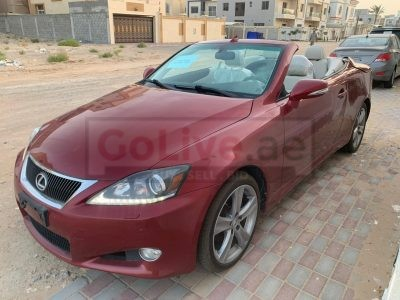 LEXUS IS 250C 2012 IN PERFECT CONDITION DONE 96,710 MILES IMPORTED CONVERTIBLE CAR