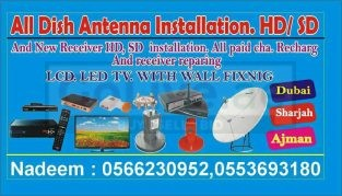 Satellite dish receiver installation