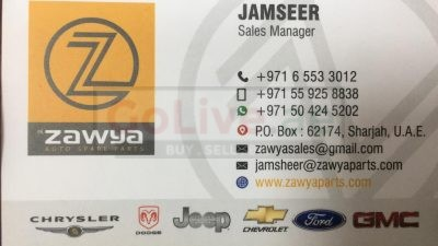 Zawya Auto Spare Parts American Cars ( New Replacement Auto Parts Dealer )