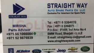 Straight Way Auto Spare Parts TR ( American Cars Parts )