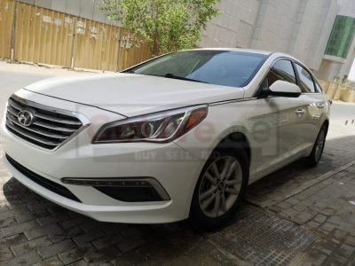 HYUNDAI SONATA 2015 MID OPTION WHITE , USA IMPORTED FOR SALE ( CUSTOM DOCUMENT )