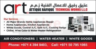 Home Appliances Repair, Fixing and Maintenance Service. ART Technical Works