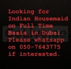 Looking for an Indian Housemaid