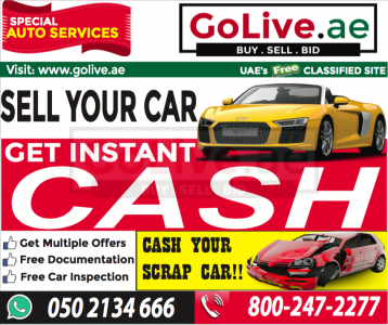 We Cash Any Car in dubai ( DUbai Used Car Buying service )