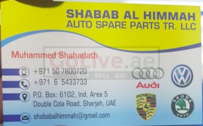 SHABAB AL HIMMAH AUTO SPARE PARTS TR LLC ( AUDI PARTS DEALER )