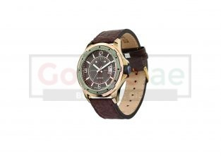 Classic Gents Brown Leather Strap Watch