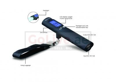 Digital Luggage Scale with built-in Flashlight and Power Bank