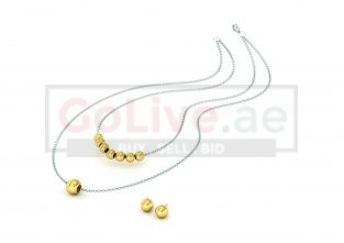 Two-tone 2-Layered Necklace with 1 pair of Earrings