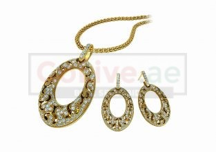 Gold Plated Necklace and 1 pair of Earrings