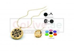 Gold Plated Perfume Locket Pendant