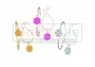 Three Bangle and Necklace Set