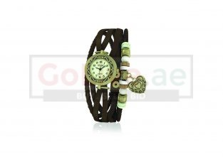 Vintage Ladies Brown Leather Watch