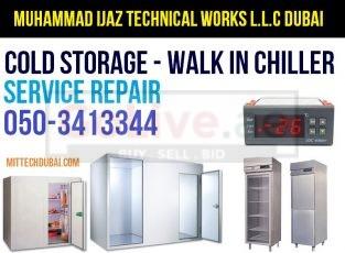 Chiller Freezer Walk in Chiller Cold Room Storage Service Repair in Dubai
