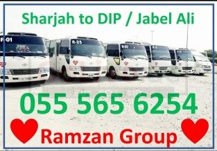 SHARJAH TO DIP,IMPZ,JVC,JABEL ALI,MOTOR CITY,STUDIO CITY