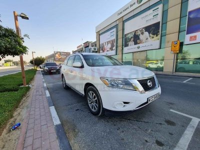 NISSAN PATHFINDER 2013 SUV WHITE COLOR 7 SEATER GCC SPECS SINGLE ONWER AGENCY SERVICE
