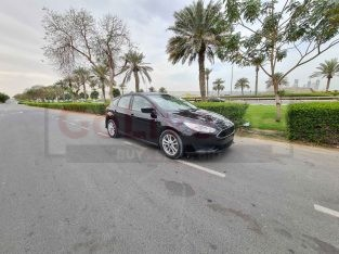 FORD FOCUS 2018, SE MID OPTION, REAR CAMERA, HATCHBACK, BLACK COLOR IN AMAZING CONDITION