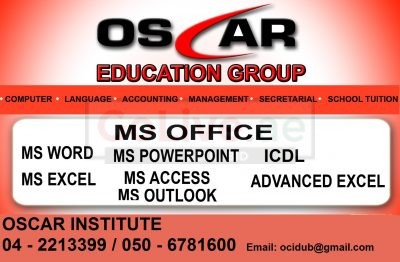 Certified MS Office and Advanced Excel Training in Dubai – 0506781600