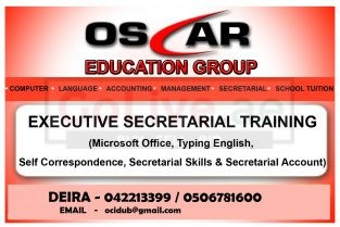 Certified Executive Secretarial and Office Administration Courses In Dubai – 0506781600