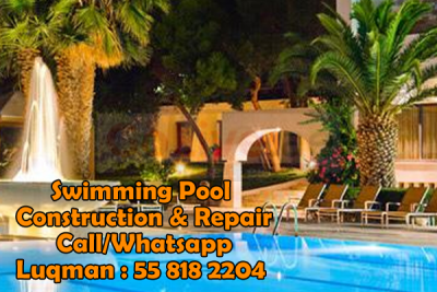 Dubai Hills Swimming Pool Construction 0558182204