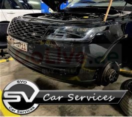 land rover workshop in Sharjah ورشة لاند روفر في الشارقة (Engine Oil Change)